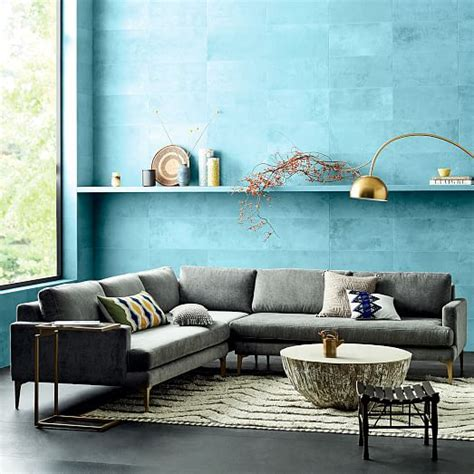 west elm sectional andes l shaped sectional west elm
