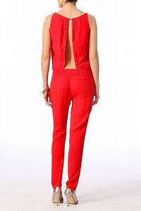 Combinaison Pantalon Femme Habillée : pingl par sur rouge combi pantalon ~ Carolinahurricanesstore.com Idées de Décoration