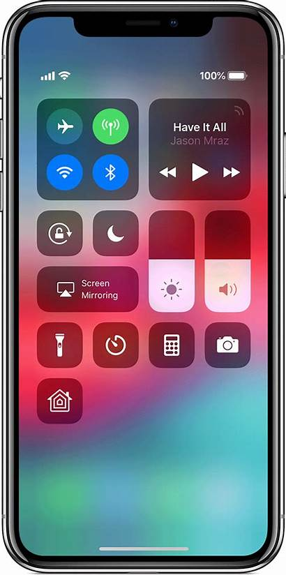 Iphone Battery Percentage Control Center Xs Apple