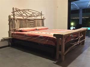Tete De Lit Bois Flotté : t te de lit et banc en bois flott cr ation en bois flott naturel 974 ile de la r union ~ Teatrodelosmanantiales.com Idées de Décoration