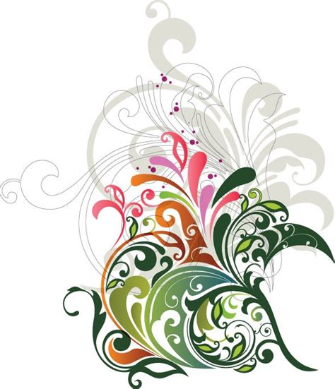 flower designs vector floral design element free vector graphics all free web resources for designer web