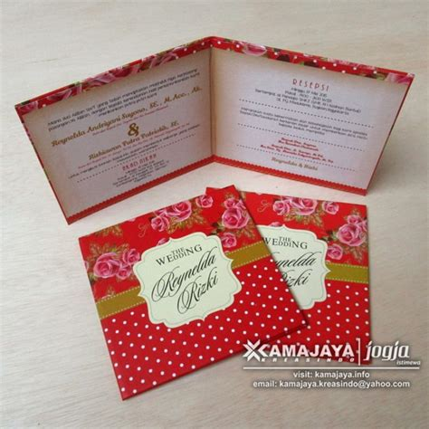 reynelda rizki undangan hardcover warna merah