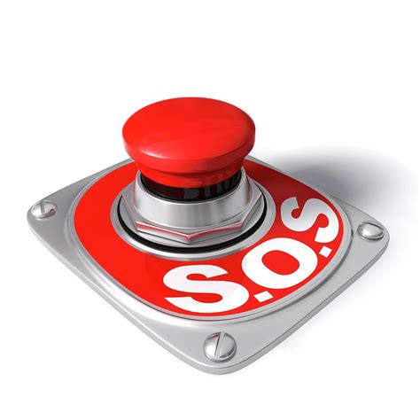 Sos Button Photograph by Ktsdesign/science Photo Library