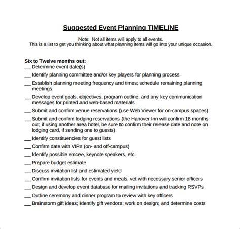 event timeline samples sample templates