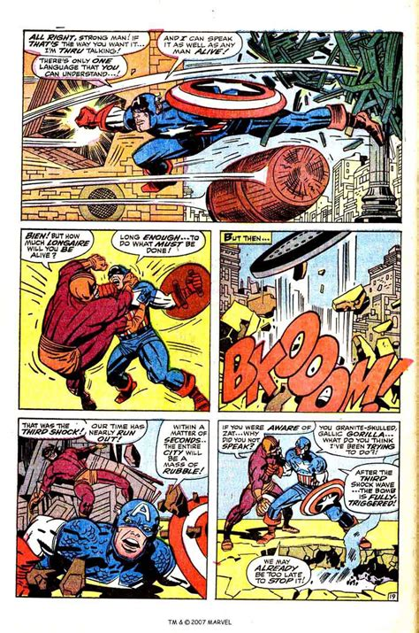 comic book page captain america 105 kirby cover pencil ink