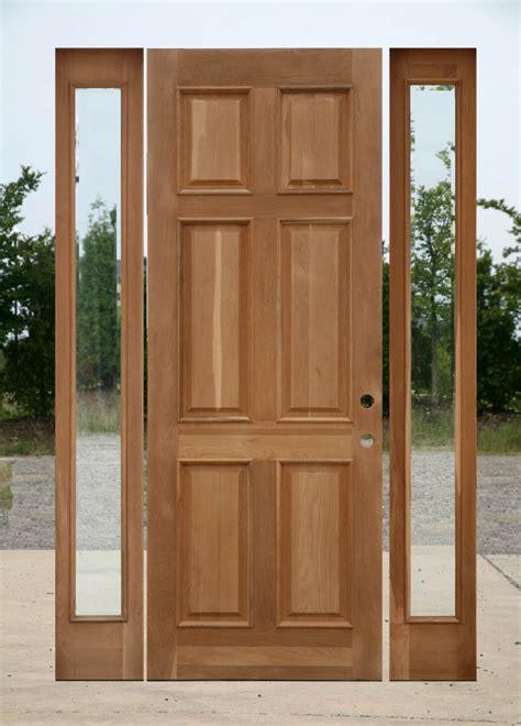 8 0 oak exterior door with two sidelights