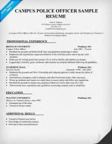 resume to become a officer cus officer resume sle resumecompanion resume sles across all