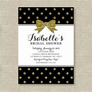 bridal shower invitations bridal shower invitations black With black and gold wedding shower invitations
