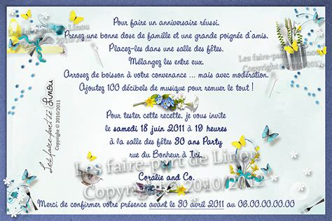 Carte D'invitation D'anniversaire Réalisée Sur Le Thème D