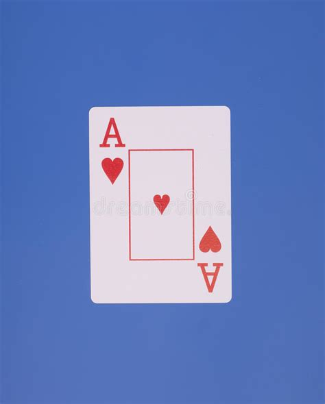 ace  heart card stock image image  game poker lucky