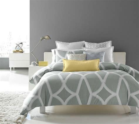 Chambre Contemporaine Grise - chambre grise et jaune 25 exemples élégants