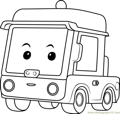 beny coloring page  robocar poli coloring pages coloringpagescom