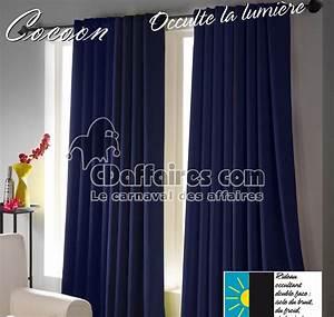 Rideau Voilage Bleu Canard : rideau occultant bleu canard ~ Teatrodelosmanantiales.com Idées de Décoration