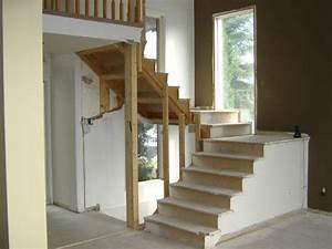 Escalier En U : construction d 39 escalier ouvert en bois franc ~ Farleysfitness.com Idées de Décoration