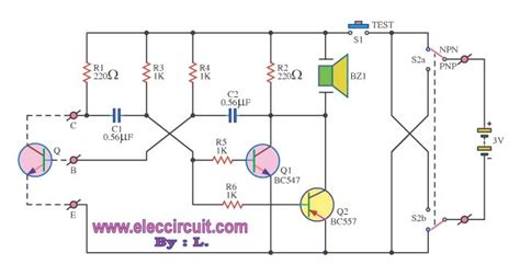 Quality Transistor Checker With Buzzer Electronic