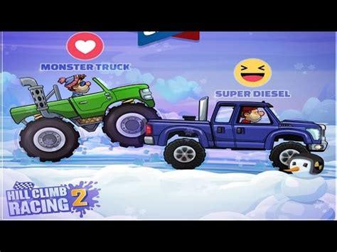 hill climb racing monster truck hill climb racing 2 super diesel vs monster truck bundle