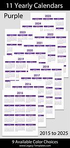 Printable Calendar Download 2015 To 2025 Yearly Calendar 8 1 2 Quot X 11 Quot Legacy Templates