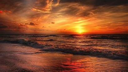 Sunset Beach Wallpapers Sea Resolution 4k Backgrounds