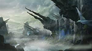 Fantastic, World, Crag, Fantasy, Magical, Creatures, Creature, Wallpapers, Hd, Desktop, And, Mobile