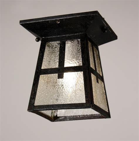 wonderful antique arts crafts flush mount light fixture
