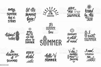 Calligraphy Quotes Summer Modern Simple Vector Phrases