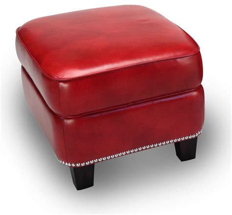 red leather storage ottoman madrid leather storage ottoman in art red contemporary