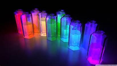 3d Bottles Colorful Wallpapers Background 4k Desktop