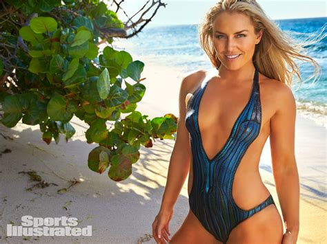Lindsey Vonn Does Pull Ups In Body Paint On Set Of Si Swimsuit Shoot People Com