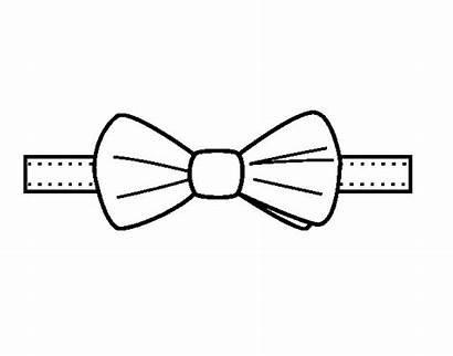 Bow Coloring Tie Pages Modern Ties Template