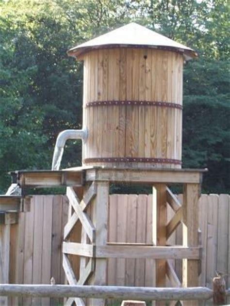 backyard water tower  cool rain barrel water