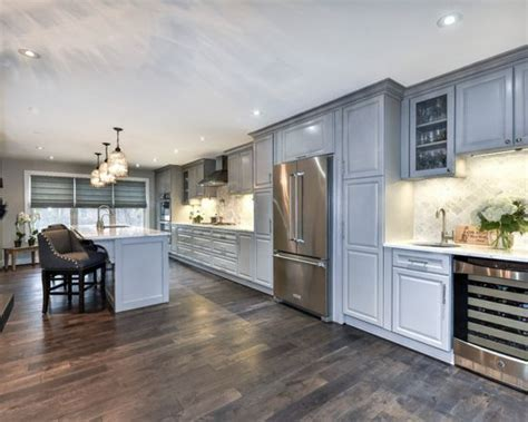 Traditional Kitchen in Pebble Gray   Interiors By Color
