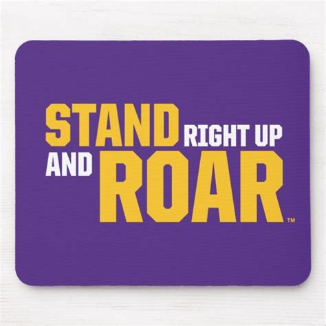 LSU | Stand Right Up And Roar Mouse Pad | Zazzle.com in ...