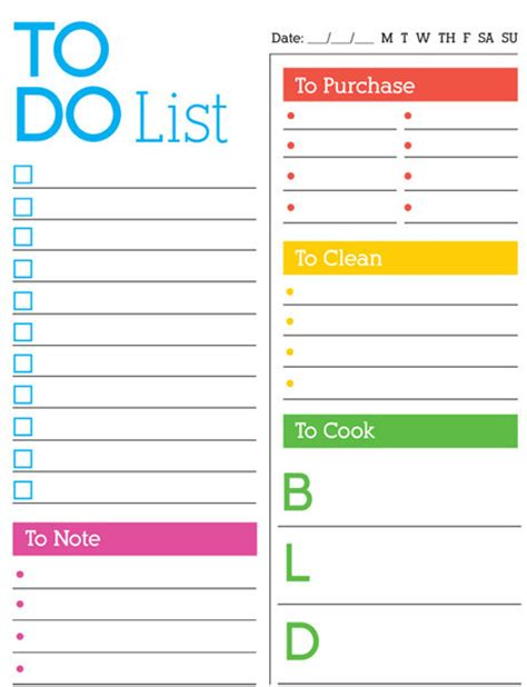 todo checklist daily to do list imom