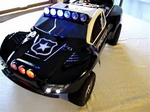 Picture Of Police Car With Lights Traxxas Slash Vxl 2wd Custom Police Car Youtube