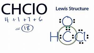 Chclo Lewis Structure  How To Draw The Lewis Structure For
