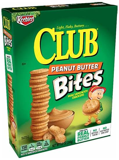 Crackers Butter Peanut Bites Keebler Club Sandwich