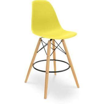 chaise dsw charles eames tabouret de bar jaune