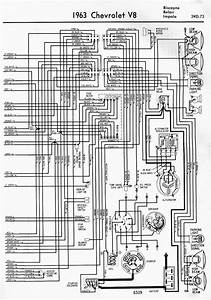 Wiring Diagram For 1963 Chevrolet V8 Biscayne  Belair And Impala Part 2  U2013 Auto