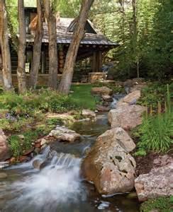Log Cabin by Stream in Colorado
