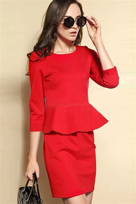 red peplum dress picture collection dressed  girl