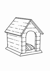 Kennel Coloring Page Coloring Pages