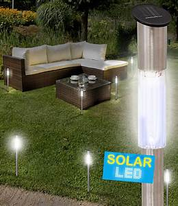 Batterien Für Solarlampen : 6er set led solarlampen edelstahl 7 solarleuchten bei baldur garten ~ Whattoseeinmadrid.com Haus und Dekorationen