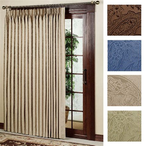 Patio Thermal Drapes - new gabrielle pleat thermal patio door panel curtain 96
