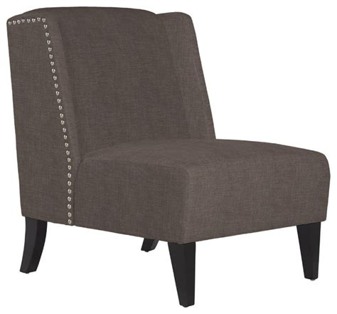 angelo home barton smoke gray sand armless wingback chair