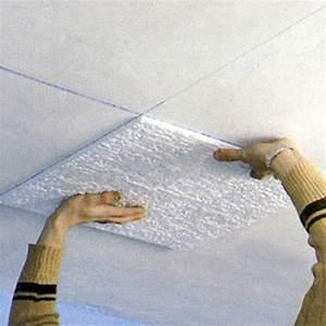 Dalle Pour Plafond : r nover un plafond avec des dalles de polystyr ne ~ Edinachiropracticcenter.com Idées de Décoration
