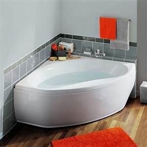 Baignoire Avec Tablier : baignoire d 39 angle nalia aquarine 135 x 135 avec tablier ~ Premium-room.com Idées de Décoration