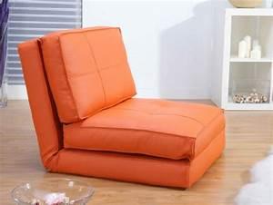 Chauffeuse D Appoint : fauteuil chauffeuse convertible en lit d 39 appoint orange ~ Teatrodelosmanantiales.com Idées de Décoration