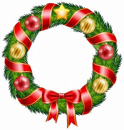 Wreath Christmas Clipart Clip Ornaments Bow Decorations