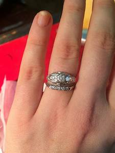 How to match wedding band w art deco engagement ring for Wedding rings to go with solitaire engagement ring