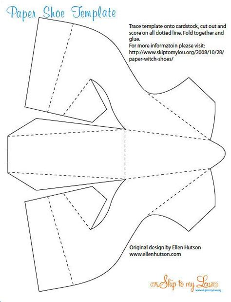 Paper High-heeled Shoe Template Page 1